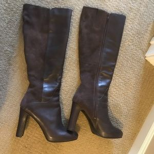 Nine West Brown Leather/Suede Boots